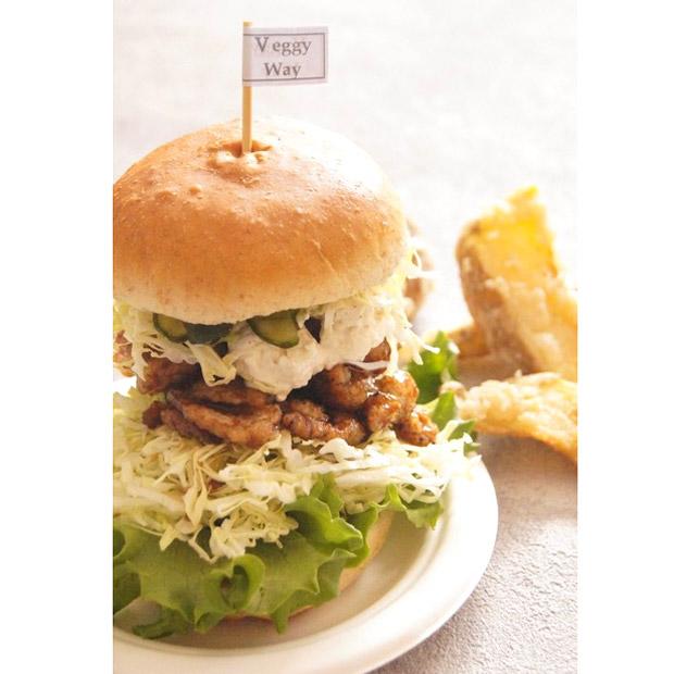Holistic Bio Cafe Veggy Way/Vegan照焼きバーガー カリカリポテト付
